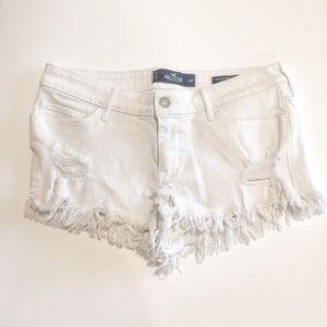 🍁3/2$25 White Hollister Low Rise Short Short 7